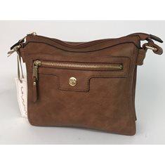 Väska fack brun