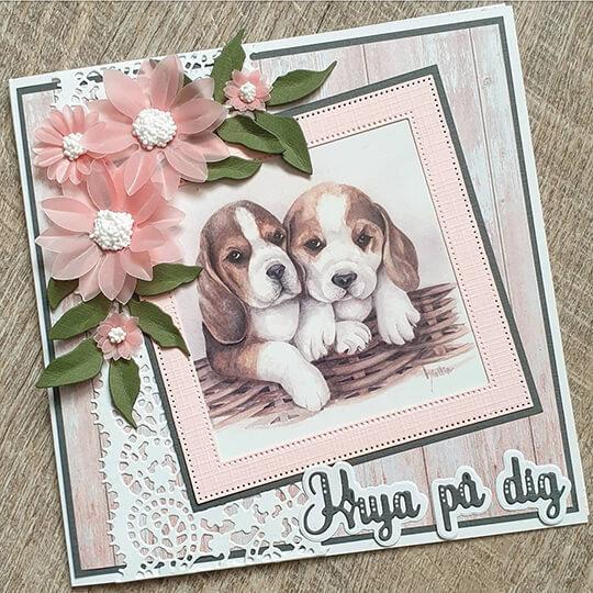 Krya på dig kort med hundar