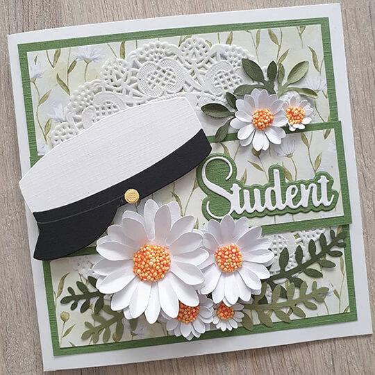 Grönskande studentkort