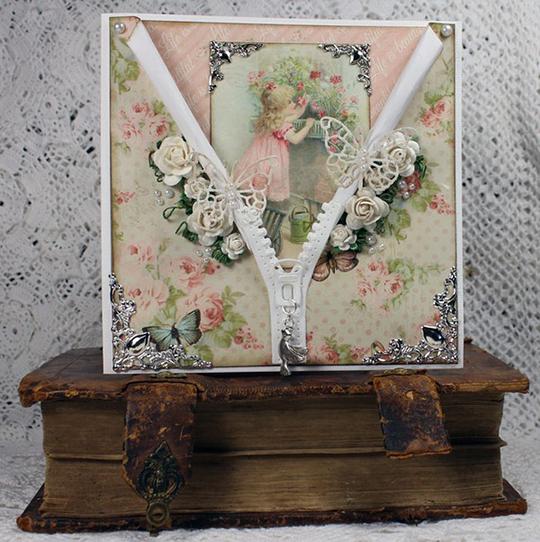 Romantiskt kort med dragkedja