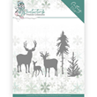 Yvonne Creations Die - Winter Time - Deers in the Forest