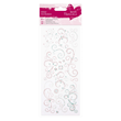 Glitter Dot Stickers - Flourishes - Teal and Pink