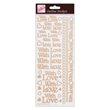 Outline Stickers - With Love - Rose Gold