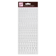 Outline Stickers - Traditional Alphabet - Silver