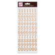 Outline Stickers - Large Numbers - Rose Gold