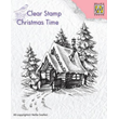 Clearstamps - Silhouette - Snowy house 2