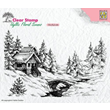 Clearstamps - Idyllic floral winter scene 1