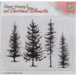 Clearstamps - Silhouette - Pine trees