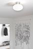 Bullo plafond (aluminium med opalglas)