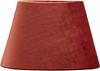 Lampskärm oval sammet rost