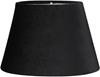 Lampskärm oval sammet svart