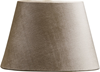 Lampskärm oval sammet beige