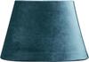 Lampskärm oval sammet turkos