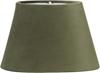 Lampskärm oval sammet grön