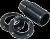 Lamphållare E14 gäng svart m ring