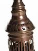 Fönsterlampa i gasljusimitation (antik med opalgals)