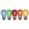 Klot LED kulör E27 5-pack