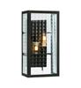 FULHAM Vägg 2L Svart/Klart glas IP44