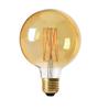 Glob LED E27 3-steg guld 125mm 220-55lm 2000K