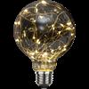 Glob LED rök ljusslinga E27