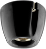 Fotlamphållare Basic rak svart