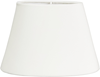 Lampskärm oval sammet vit
