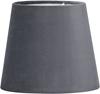 Mia Lampskärm sammet grå
