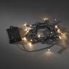 Ljusslinga 20 amber LED sensor/timer 6/9h svart kab 4xAA