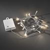 Ljusslinga 20 vv LED sensor/timer 6/9h transp kabel 4xAA