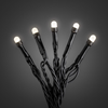 Ljusslinga 40 vita frostad topp svart kabel
