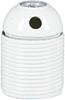 Lamphållare E27 sidohål vit