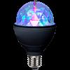 LED-lampa E27 Disco LED Black