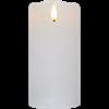 Flamme Rustic blockljus hög vit