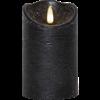 Flamme Rustic blockljus mellan svart