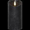 Flamme Rustic blockljus hög svart