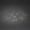 Ljusslinga 50 färgskiftande micro LED silver kabel 4,5V/IP20