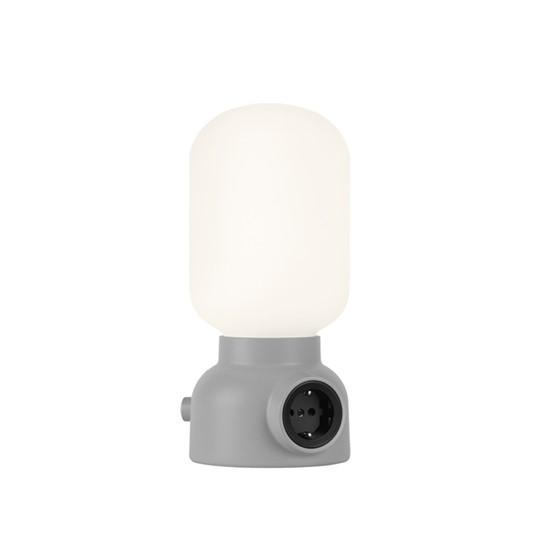 Ateljé Lyktan Plug Lamp Bordslampa Grå Inkl. Ljuskälla Led