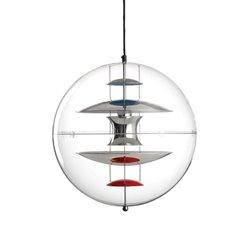 Verpan Vp Globe Pendel 50Cm Krom/Akryl