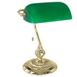 Eglo Banker Bordslampa Mässing/Grön
