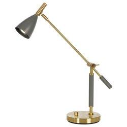 Belid B4159 Frank 2.0 Bordslampa Varmgrå/Mässing LED med dimmer