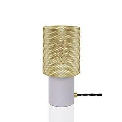 Globen Rumble Bordslampa Betong/Borstad Mässing