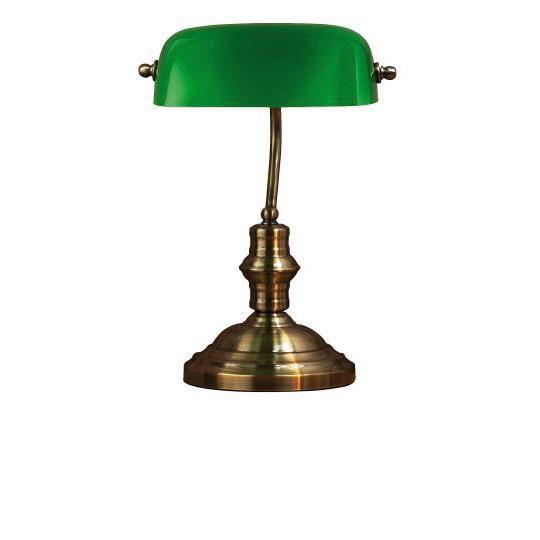 Markslöjd Bankers Bordslampa Stor Oxid/Grön