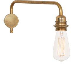Konsthantverk Edison Vägglampa 4403 Ner Råmässing Fast Installation
