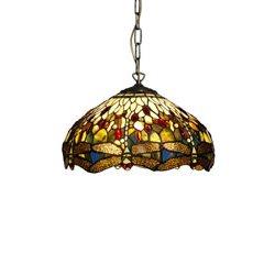 Nostalgia Design Trollslända T05-40 Taklampa Tiffany 40Cm Oliv