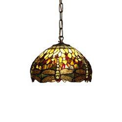 Nostalgia Design Trollslända T05-30 Taklampa Tiffany 30Cm Oliv