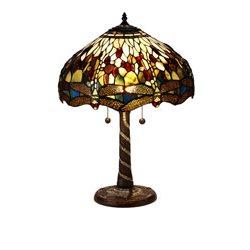 Nostalgia Design Trollslända Oliv B05-40 Bordslampa Tiffany 40Cm