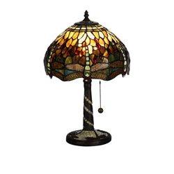 Nostalgia Design Trollslända Oliv B05-30 Bordslampa Tiffany 30Cm