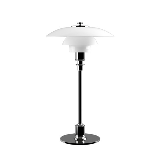 Louis Poulsen PH2/1 Bordslampa Glas/Krom