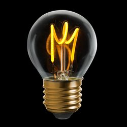 Unison Klotlampa Klar Dim 2200K 3W 150Lm E27