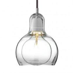 Andtradition Mega Bulb Pendel Sr2 Klar Svart Sladd